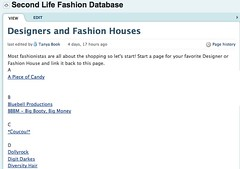 Second Life Fashion Database