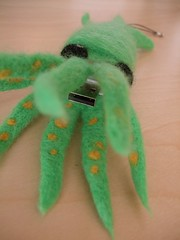 Felted Wool Squid USB Flash Drive