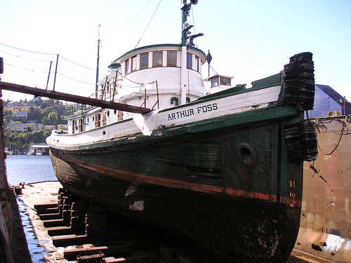 the tugboat Arthur Foss in dry-dock, October 2007