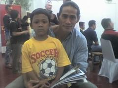 Alif dan Ade Rai di Gym gulat Senayan