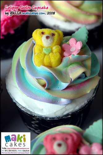 Lollipop Swirl Cupcakes - Maki Cakes