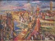 Oskar Kokoschka. Florencia vista desde la Torre Mannelli. 1948.
