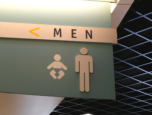 Men can change diapers, too