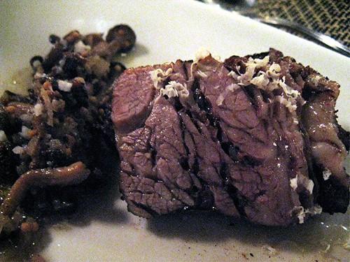 short rib and mushrooms at Joule