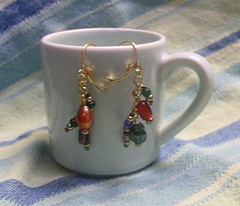 Rainbow Change Dangle Leverbacks