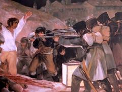 Reproducción del cuadro de los fusilamientos.