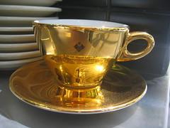 Latte art cup from Bern