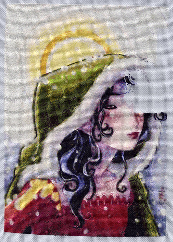 Winter ACEO Nov SAL Stitching