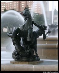 Kansas City Plaza Fountain shot