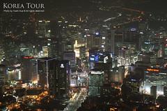 Seoul City at Night, Korea