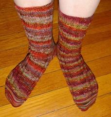Finished New Year socks from Sockamania KAL
