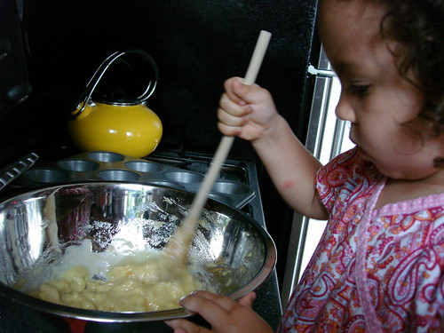 Monkey bakes.