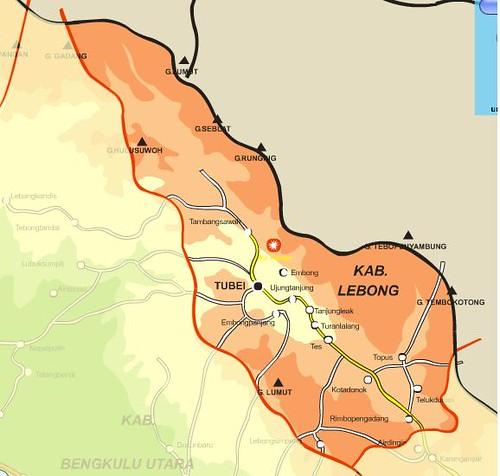 Peta Kabupaten Lebong