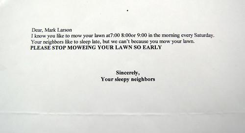 passive-aggressive letter