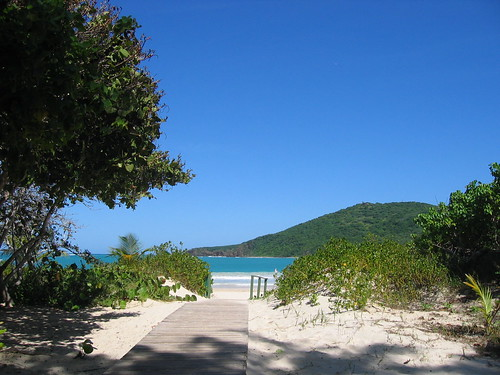 The entrance to Playa Flamenco, Culebra