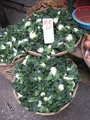 Display of cabbage at a market