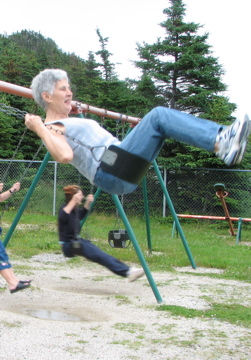 Mom on swing 2006