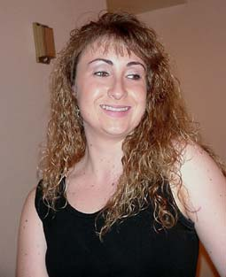 The very first picture of myself I ever put on the website.  My God, you guys, THE PERM.
