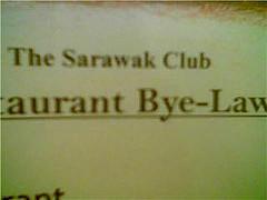 Sarawak Club sign