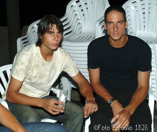 Rafa Nadal y Feliciano López en la fiesta de los jigadores. Foto Pedro Merino