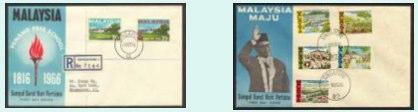 Stamps - Singapore/ Malaysia circa 1965/ 66