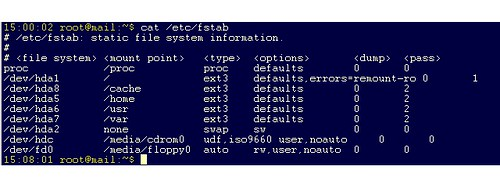 Linux /etc/fstab