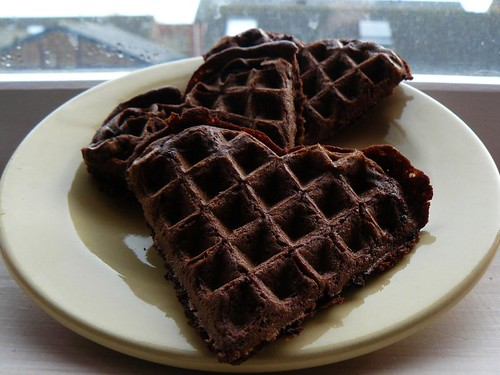 Chocolate Chip Brownie Waffles