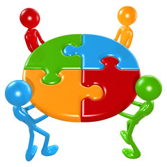 Working Together Teamwork Puzzle Concept by lumaxart, on Flickr
