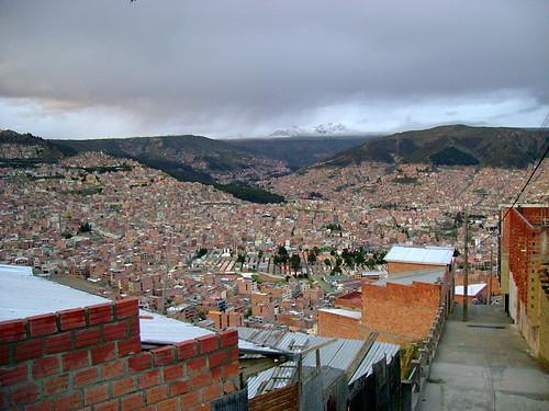 Zona Norte de la ciudad de La Paz, Bolivia