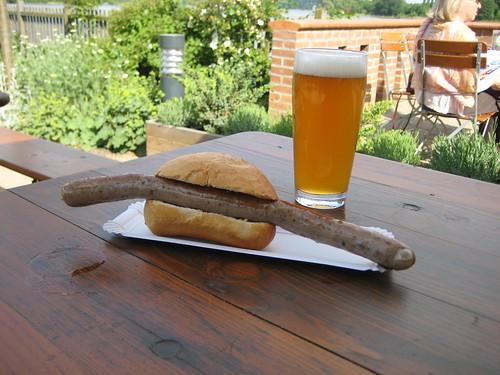 Sausage/Beer at 'Brauhas im Neuen Garten' (Potsdam)