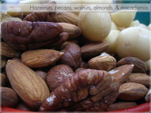 Hazelnuts, pecans, walnuts, almonds & macadamia
