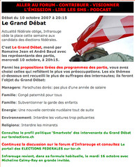 Le menu du Grand Débat