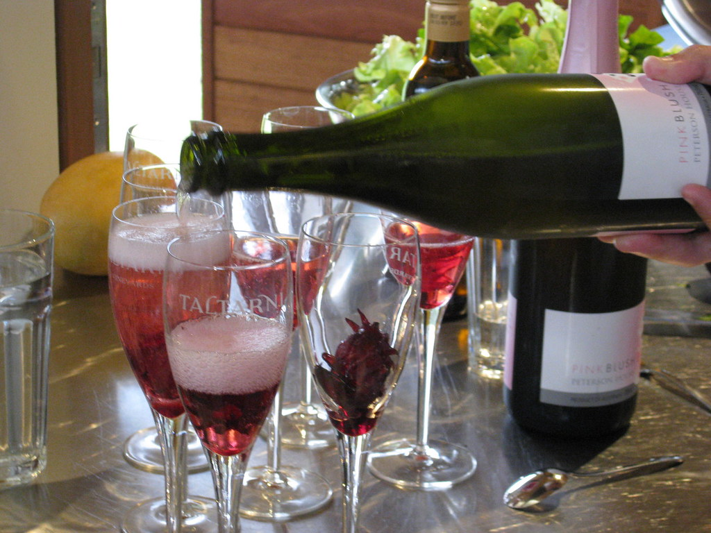 Champagne With Hibiscus Flowers Adventures In Food