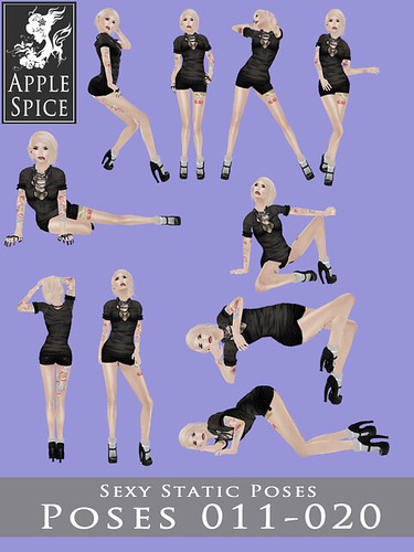 Apple Spice - Sexy Static Poses 011-020