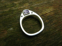 My hollow ring - purple side