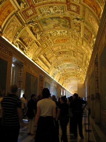 Hall of Maps in the Vatican Museum.