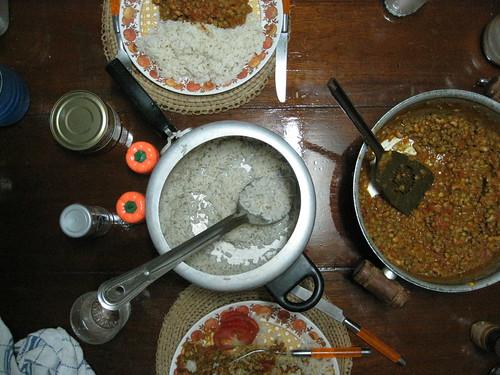 Lentil and black eyed pea stew