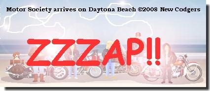 Motor Society arrives on Daytona Beach ©2008 New Codgers