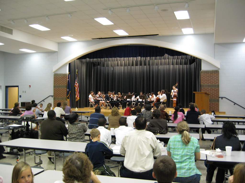 PTA meeting / strings concert.  Ray's daughter was playing bass