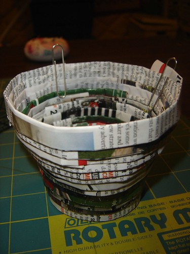 recycled junk mail bowl