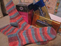 socks, tea and chocolate!