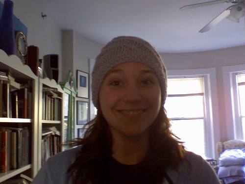 Becca purple hat