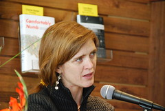 Samantha Power reading at Stacy's