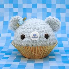 Amigurumi Blue Icing Cupcake Bear