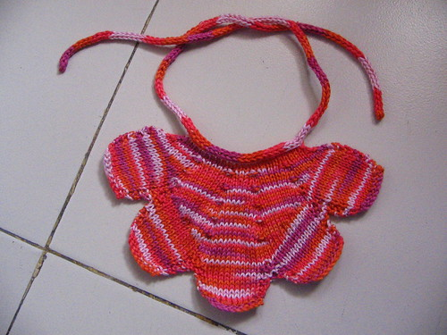 Petal bib from One Skein