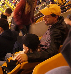 Sharing a hockey game with your kid = Priceless