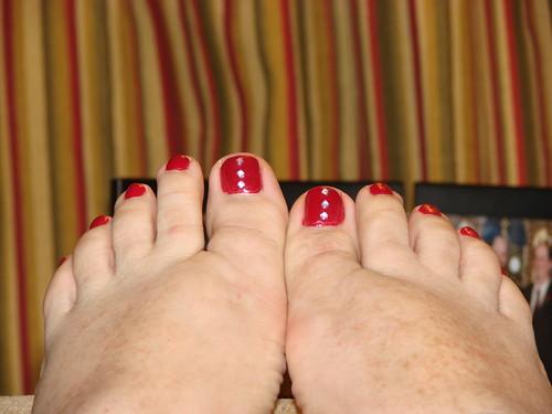 Rhinestone Toes!