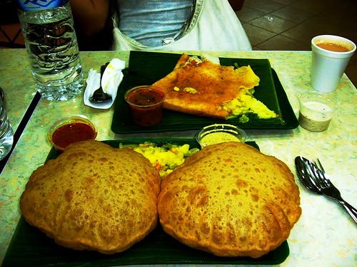 Puri Bhaji and Masala Dosa