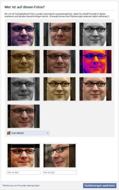 2 fotos werden von FB als ähnlich erkannt und gruppiert dargestellt