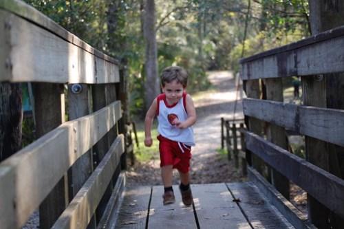 Adam on the bridge